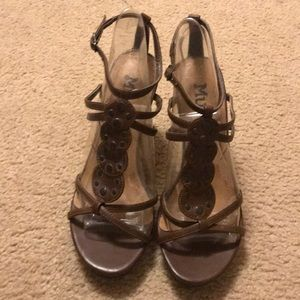 Brown Strap and Studded Heels - Sz 6.5